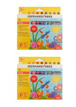 (EUR 3,75 / 100 g) Doppelpack Eberhard Faber 572110 Mini Kids Club Supersoft Knete 2 x 10 Stangen