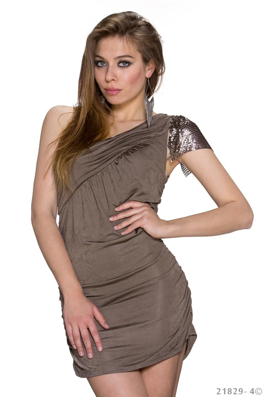 Vicy24.de - sexy GoGo Kleid One-Shoulder Minikleid Exklusives ...