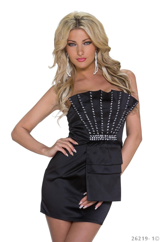 b52f6257dd54f0 sexy Kleid Minikleid Abendkleid Partykleid mit Pailletten 34 36 S schwarz