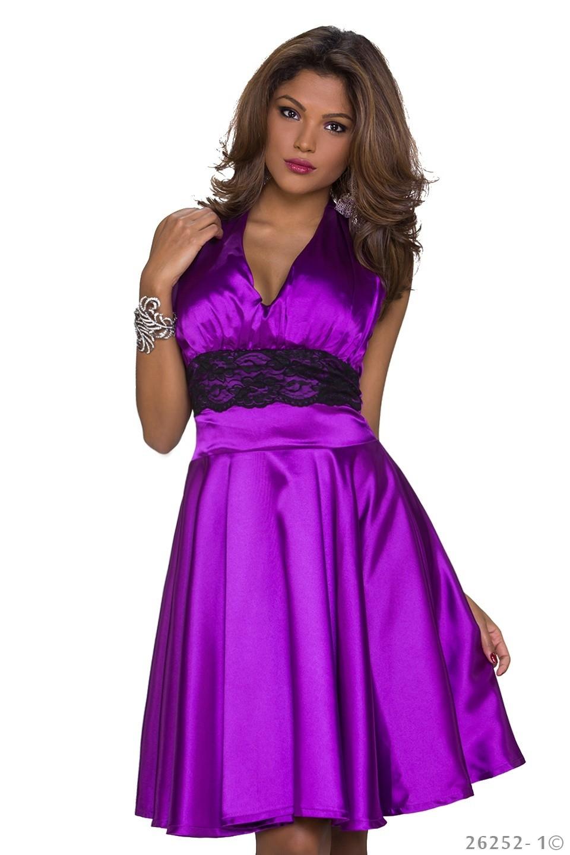 36 s neckholder-kleidsexy neckholder-kleid kleid minikleid abendkleid  partykleid mit spitze 36 s lila