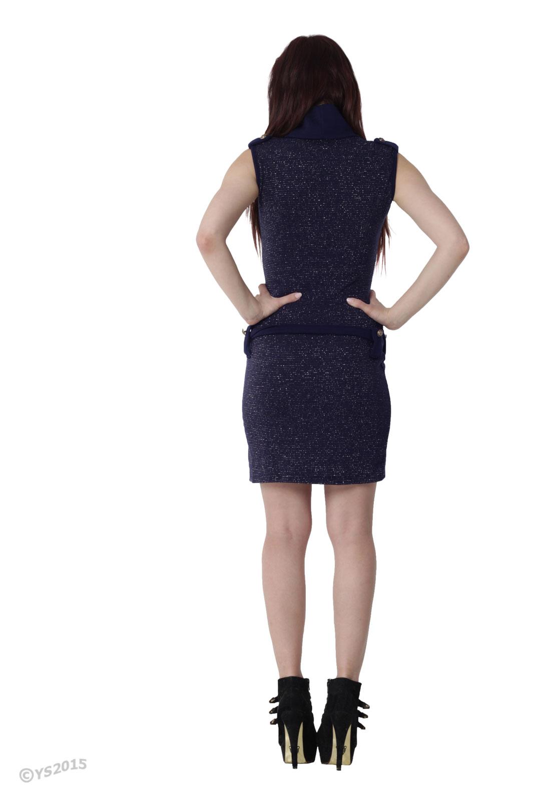 Vicy24 De Sexy Elegantes Kleid Strickkleid Rollkragen Abend Tanz 34 36 S M Made In Italy Blau