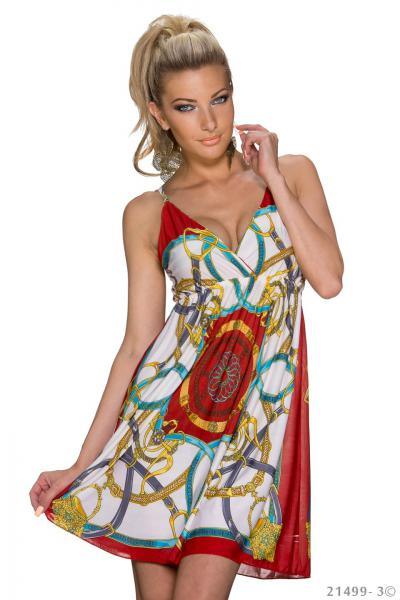 Kleid Sommerkleid Strandkleid Minikleid Summer Beach Party Sun Dress Longshirt S M 34 36 38