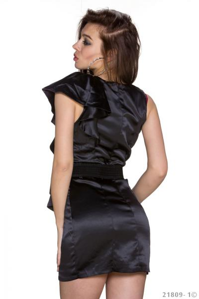 Vicy24.de - sexy GoGo Kleid Minikleid mit Gürtel schwarz ...
