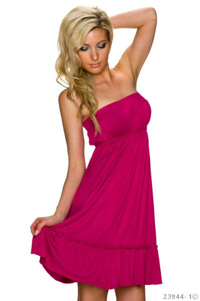 Kleid Sommerkleid Strandkleid Minikleid Bandeau-Kleid Party Sun Dress Longshirt rot sexy