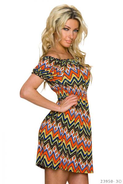 Kleid Sommerkleid Strandkleid Minikleid Party Sun Dress Longshirt bunt sexy